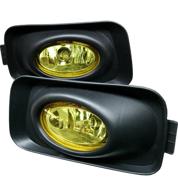 Spyder 5014436 |  Acura TSX (Euro Accord) OEM Fog Lights- Yellow - (FL-ATSX03-Y); 2004-2005