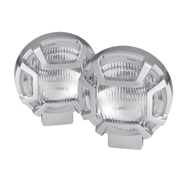 xTune FL-CH-26004A-C |  Universal 4x4 5 Inch Chrome Housing Fog Lights W/Switch - Clear; 2000-2014