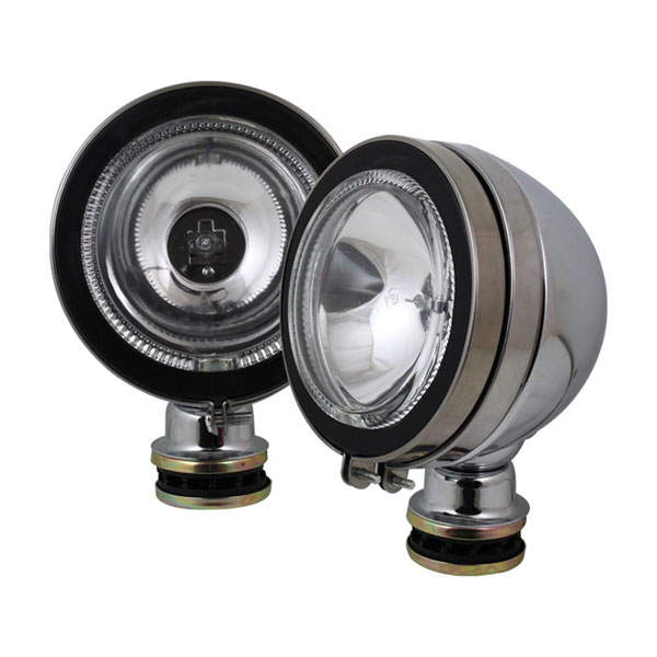 xTune FL-CH-8050C-E:  Universal 4x4 4.5 Inch Halo Fog Lights Chrome Housing W/Switch - Euro