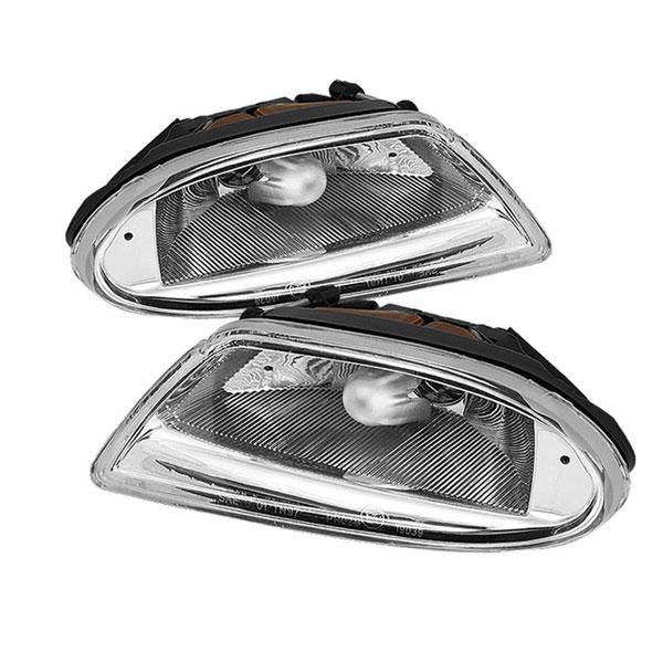 xTune FL-CH-MBW16398-C |  Mercedes Benz M-Class W163 Fog Lights (No Switch) - Chrome; 2002-2005