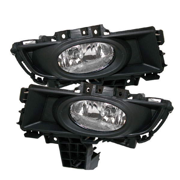 "Spyder 5020765 |  Mazda 3 4Dr OEM Fog Lights (Won""t Fit Sports/Gt Or Hatchback) - Clear - (FL-CL-MAZ307-C); 2007-2008"