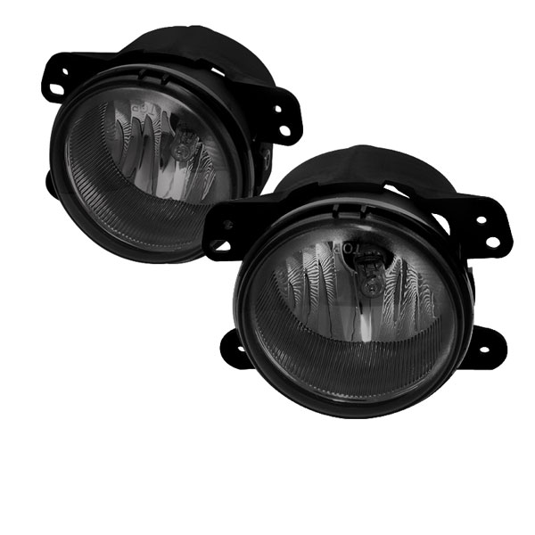 Spyder FL-DM05-SM:  Jeep Wrangler 07-09 OEM Fog Lights - Smoke