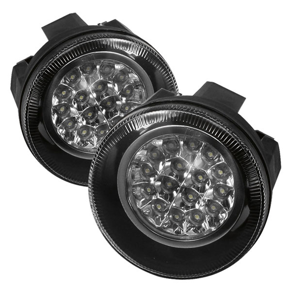 Spyder FL-LED-DDAK01-C:  Dodge Dakota 01-04 LED Fog Lights - Clear