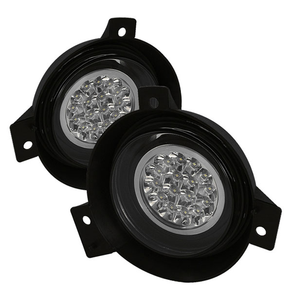 Spyder FL-LED-FR01-C:  Ford Ranger 01-03 LED Fog Lights - Clear