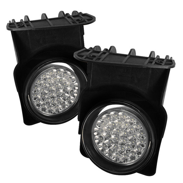 Spyder 5015679:  GMC Sierra 1500/2500/3500 03-06 LED Fog Lights - Clear - (FL-LED-GS03-C)