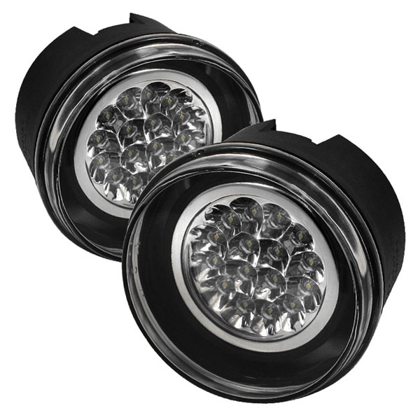 Spyder FL-LED-JGC05-C:  Mitsubishi Raider 06-09 LED Fog Lights - Clear