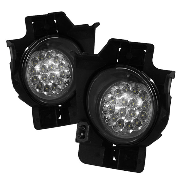 Spyder FL-LED-NA08-2D-C:  Nissan Altima 08-10 2Dr LED Fog Lights - Clear