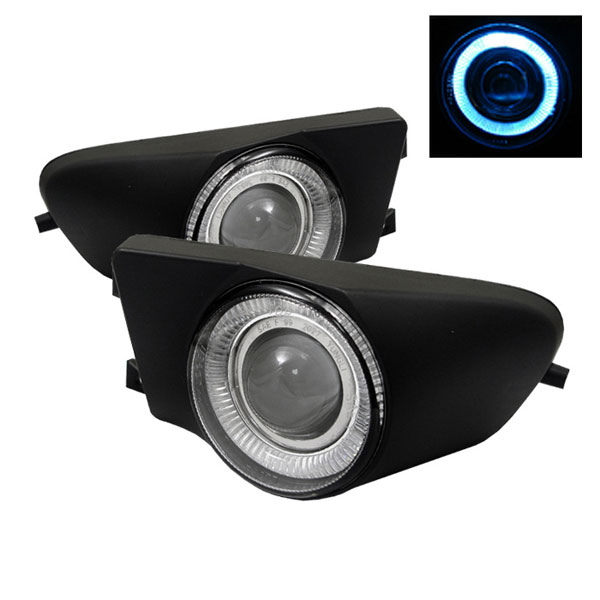 Spyder FL-P-BE3996-HL:  BMW E39 5-Series 97-00 Halo Projector Fog Lights - Clear