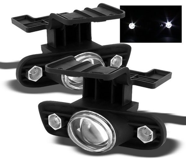 Spyder 5015822:  Chevrolet Silverado 99-02 Halo Projector Fog Lights - Clear - (FL-P-CS99-HL)