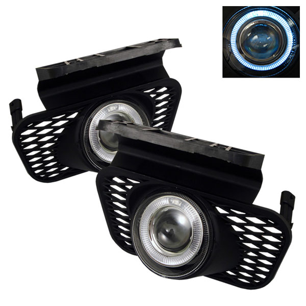 Spyder FL-P-CSIL03-HL:  Chevrolet Avalanche 02-06 (W/O Body Cladding) Halo Projector Fog Lights - Clear