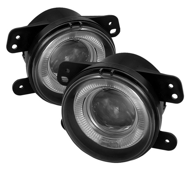 Spyder FL-P-DM05-HL-SM:  Jeep Wrangler 07-09 Projector Fog Lights - Smoke