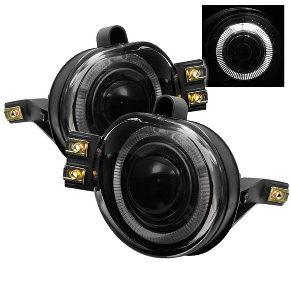Spyder FL-P-DRAM02-HL-SM:  Dodge Ram 02-08 Halo Projector Fog Lights - Smoke