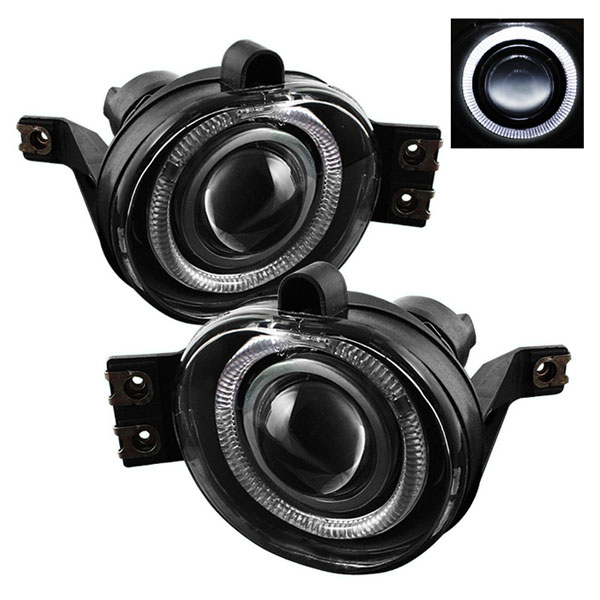 Spyder (5021250)  Dodge Ram 02-08 Halo Projector Fog Lights - Clear - (FL-P-DRAM02-HL)