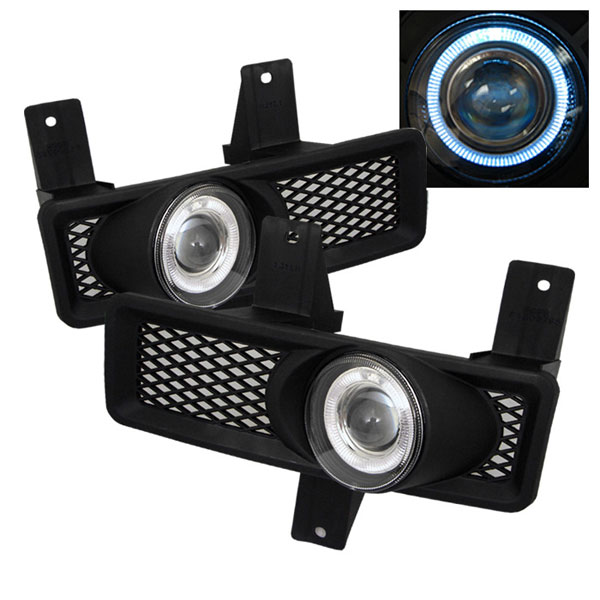 Spyder 5021328:  Ford Expedition 97-98 Halo Projector Fog Lights - Clear - (FL-P-FF15097-HL)