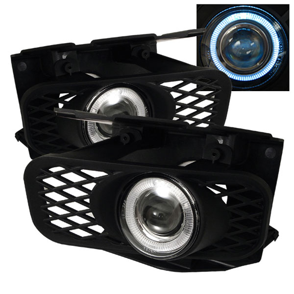 Spyder FL-P-FF15099-HL:  Ford F150 99-03 / F150 Heritage 04 (Not Fit Lightning) Halo Projector Fog Lights - Clear