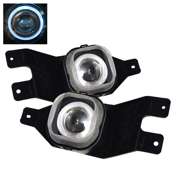 Spyder 5021359:  Ford F250 01-04 Halo Projector Fog Lights - Clear - (FL-P-FF25001-HL)