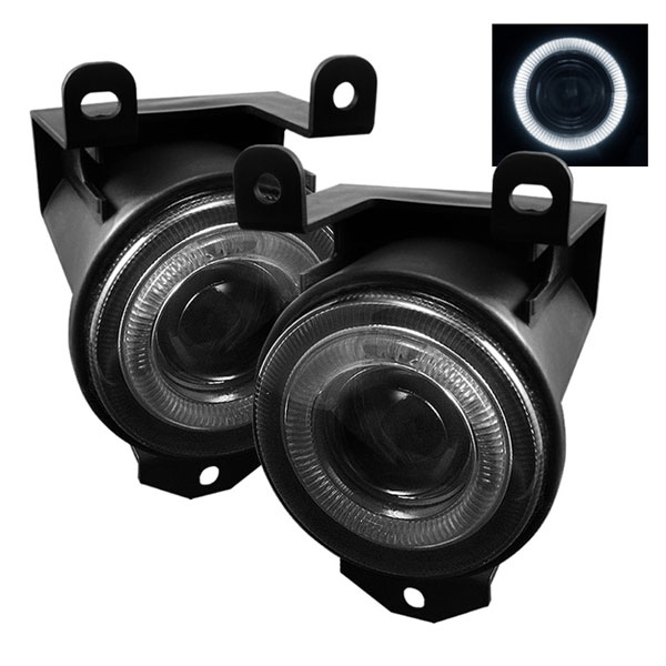 Spyder FL-P-GD99-HL-SM:  GMC Yukon Denali 99-06 (Not Fit XL/SLT) Halo Projector Fog Lights - Smoke