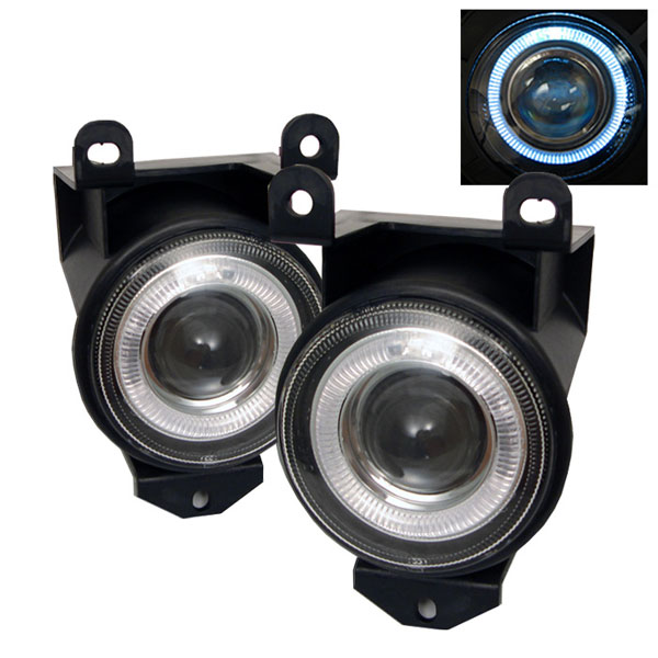 Spyder FL-P-GD99-HL:  Gmc Denali 99-06 / Sierra C3 03-06 Halo Projector Fog Lights - Clear