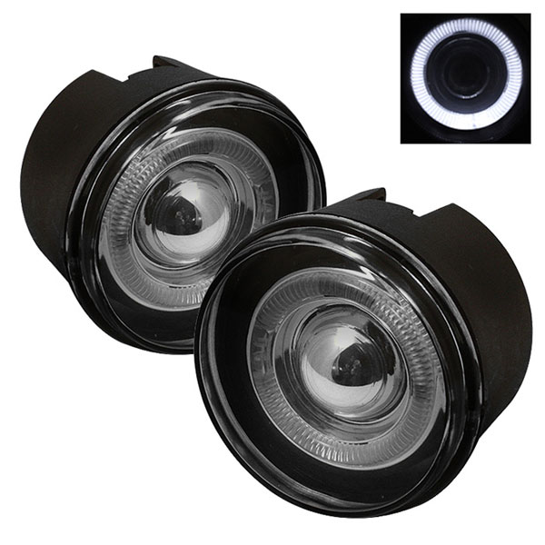 Spyder FL-P-JGC05-HL-SM:  Jeep Grand Cherokee 05-07 Halo Projector Fog Lights - Smoke