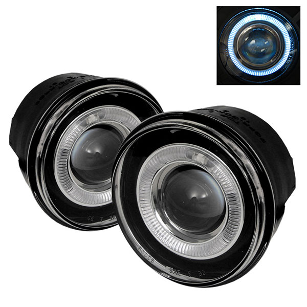 Spyder 5021472 |  Jeep Grand Cherokee Halo Projector Fog Lights - Clear - (FL-P-JGC05-HL); 2005-2009