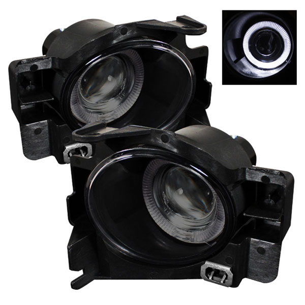 Spyder FL-P-NA08-2D-HL-SM:  Nissan Altima 08-12 2Dr (w/Switch. No Cover) Halo Projector Fog Lights- Smoke
