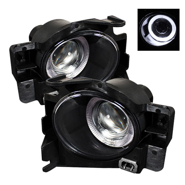 Spyder FL-P-NA08-2D-HL:  Nissan Altima 08-12 2Dr (w/Switch. No Cover) Halo Projector Fog Lights- Clear