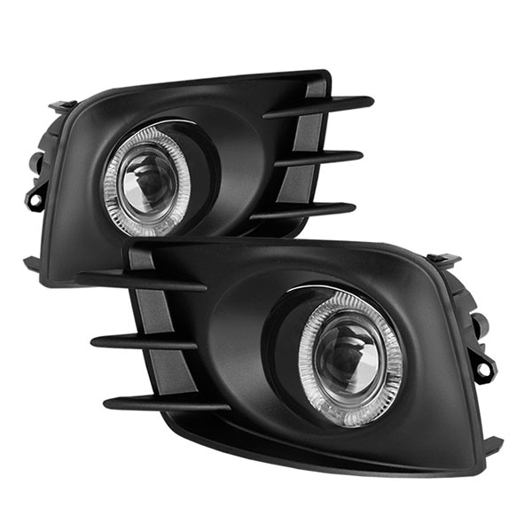 Spyder 5070524:  Scion TC 2011-2013 Halo Projector Fog Lights - Clear - (FL-P-STC2011-HL)