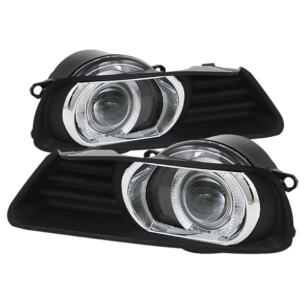 Spyder FL-P-TCAM07-HL:  Toyota Camry 07-09 Halo Projector Fog Lights - Clear