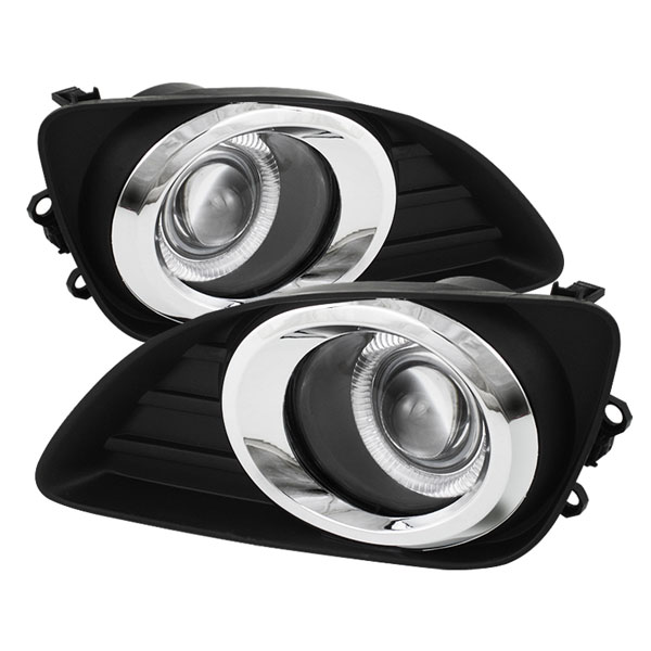 Spyder (5038708)  Toyota Camry 10-11 Halo Projector Fog Lights - Clear - (FL-P-TCAM2010-HL)