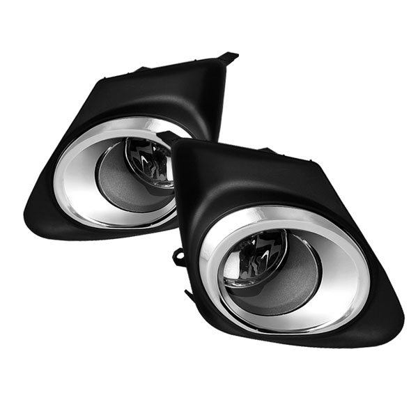 Spyder (5038586)  Toyota Corolla 11-12 (With Chrome rim design in the cover frame) OEM Fog Lights - Clear - (FL-TCO2011-C)