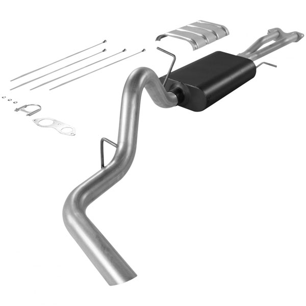 Flowmaster 17165:  96-99 / GMC Tahoe / Yukon 5.7L 2 Door Force II Exhaust System, Single Out Side