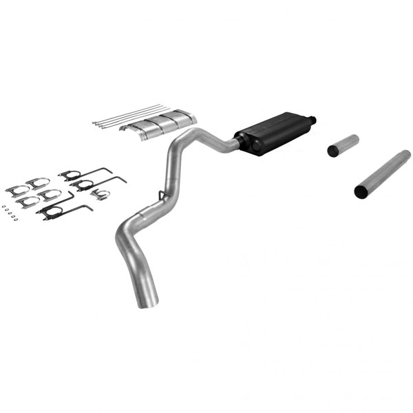 Flowmaster 17198:  87-93 Ford Truck F250 / F350 3/4Ton / 1Ton Force II Exhaust System, Single Out Side