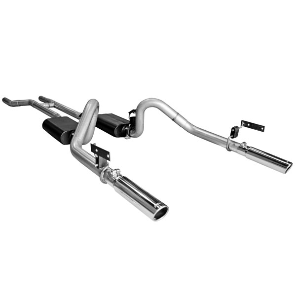 Flowmaster 17281:  67-70 Ford Mustang V8(Does Not Fit Convertibles) American Thunder Exhaust System, Dual Out Rear