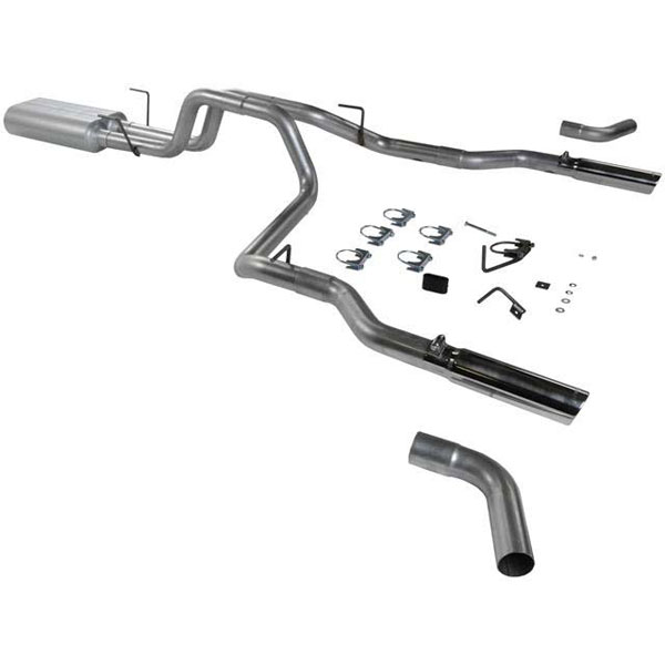 Flowmaster 17375:  03-03 Dodge Ram 1/2Ton American Thunder Exhaust System, Dual Out Rear and Dual Out Side Kit