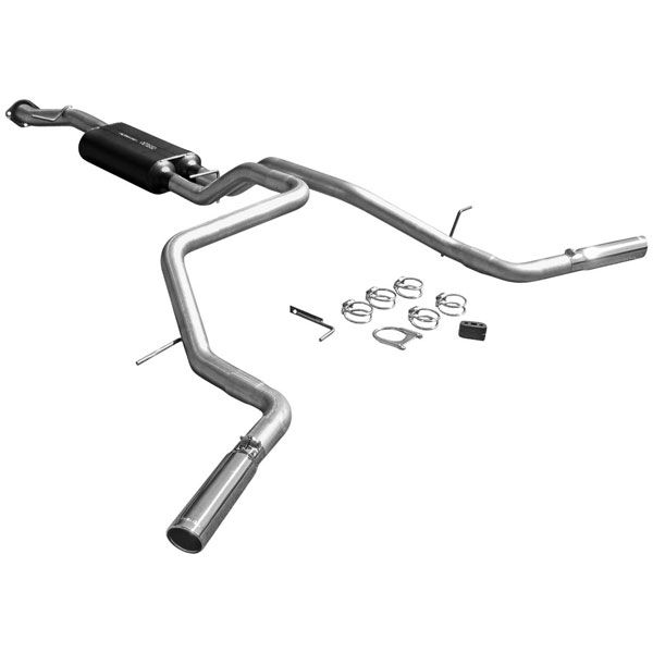 Flowmaster 17419:  04-06 Tahoe/GMC Yukon 4.8L/5.3L 3.00 Inlet American Thunder Exhaust System, Dual Out Side