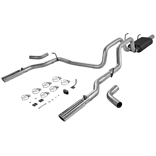 Flowmaster 17424:  06-07 Dodge Ram 1/2Ton 4.7L American Thunder Exhaust System, Dual Out Rear