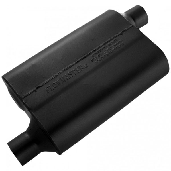 Flowmaster 42443 |  Muffler Delta 40 Series 2.25 Offset IN / 2.25 Offset OUT - Aggressive Sound