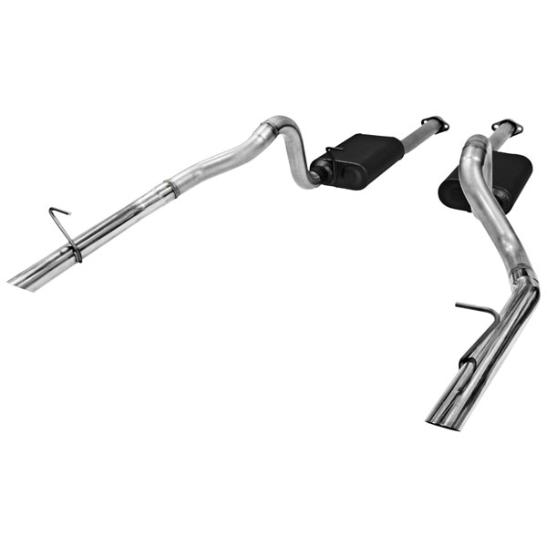 Flowmaster 817213:  87-93 Ford Mustang LX 5.0L / 86 GT 5.0L 2.50 Outlet American Thunder Exhaust System, Dual Out Rear