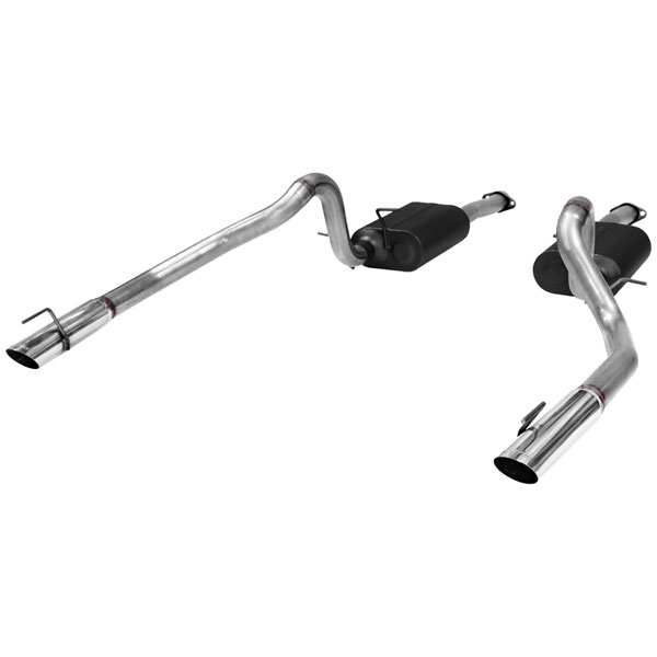 Flowmaster 817312:  99-04 Ford Mustang GT MACH1 / Bullitt (Not Cobra) American Thunder Exhaust System, Dual Out Rear V8