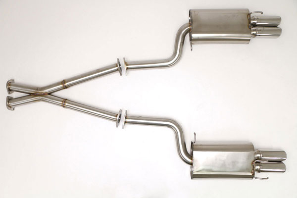 B&B Billy Boat Exhaust FPIM-0005: Billy Boat B&B Nissan 300ZX 1990 - 1996 Twin Turbo 2-1/2'' - Round Tips