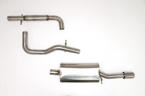 B&B Billy Boat Exhaust (FPIM-0212) Billy Boat B&B Volkswagen Jetta / GLI 2003 - 2005 MK4 GLI Catback 2.5'' w/Single Tip