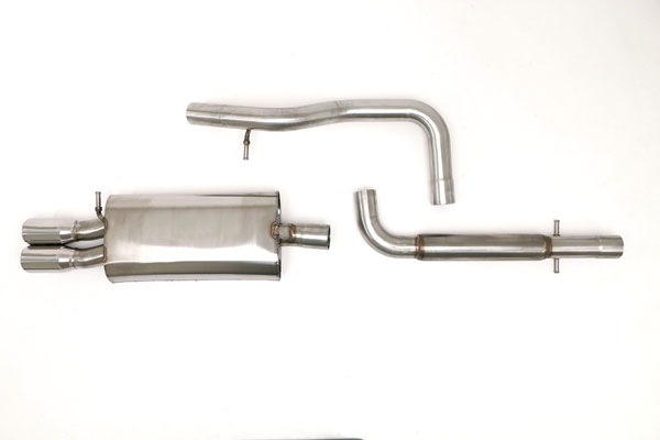 B&B Billy Boat Exhaust FPIM-0240: Billy Boat B&B Volkswagen Golf / GTI 2003 - 2005 MK4 Golf/GTI Catback 2.5'' w/Twin Tips
