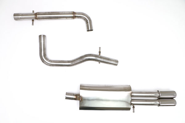 B&B Billy Boat Exhaust FPIM-0275: Billy Boat B&B Volkswagen Jetta / GLI 2003 - 2005 MK4 Jetta Catback 2.5'' w/Twin Tips