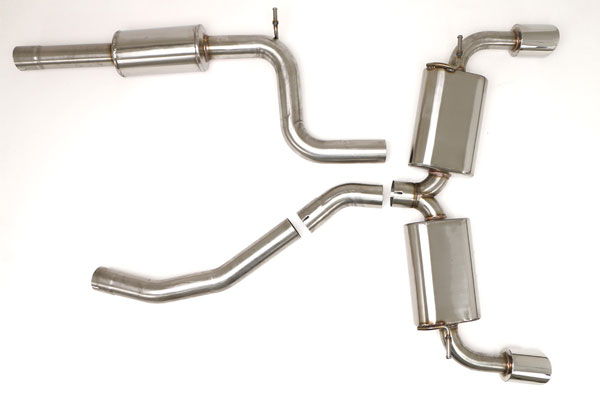 B&B Billy Boat Exhaust FPIM-0370 |  Billy Boat Volkswagen MK7 Exhaust System 2015-16 GTI 2.0T Catback (MQB) 4'' Single ROUND Double-Wall Tips