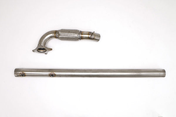 B&B Billy Boat Exhaust FPIM-0474: Billy Boat Audi A3 2005 - 2008 / GLI/ GTI FWD 2.0T 3'' CATLESS Downpipe