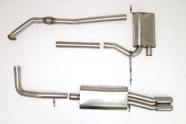 B&B Billy Boat Exhaust FPIM-0500: Billy Boat B&B Audi A4 1997 - 2001 B5 A4 Fwd 1.8T, 5spd
