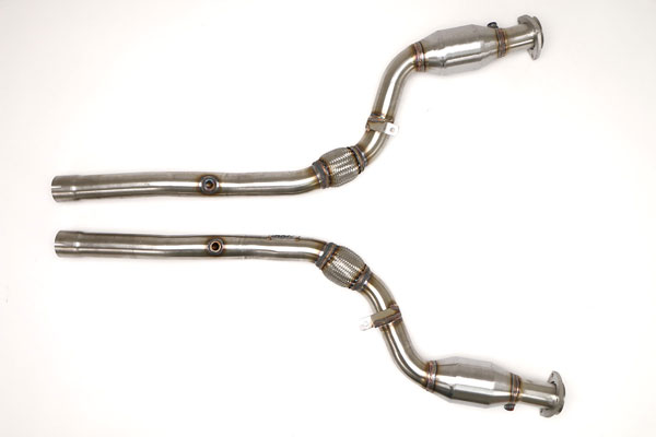 B&B Billy Boat Exhaust FPIM-0542: Billy Boat B&B Audi S4 2004 - 2008 B6/B7 S4 Quatro Downpipes (w/HJS Cats) 4.2L 6spd