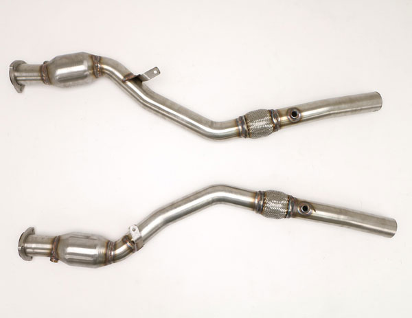 B&B Billy Boat Exhaust FPIM-0544: Billy Boat B&B Audi S4 2004 - 2008 B6/B7 S4 Quatro Downpipes (w/HJS Cats) 4.2L Tiptronic
