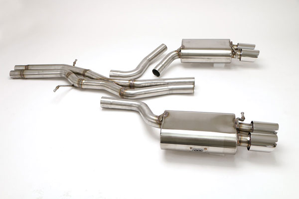 B&B Billy Boat Exhaust FPIM-0547: Billy Boat Audi S4 Exhaust System 2009 - 2014 B8 QUATRO 3.0L SPORT 3.5'' Twin ROUND Double-Wall Tips