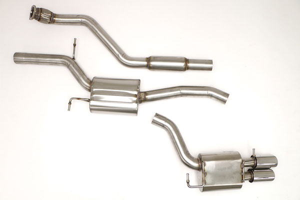 B&B Billy Boat Exhaust (FPIM-0590) Billy Boat B&B Audi A5 2009 - 2015 B8 A5 2.0T Quattro, 6spd & Tiptronic (Round Tips)